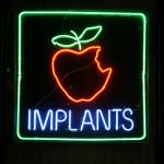 Neon sign Implants apple